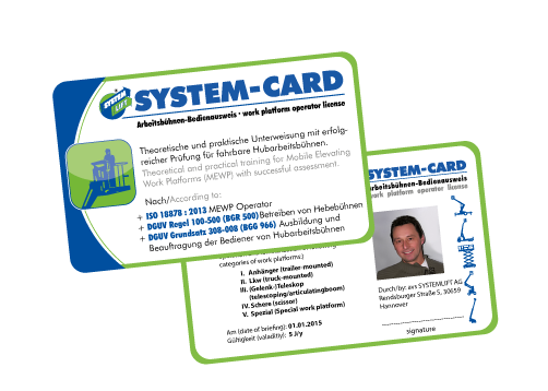 SYSTEM CARD Bedienerschulung